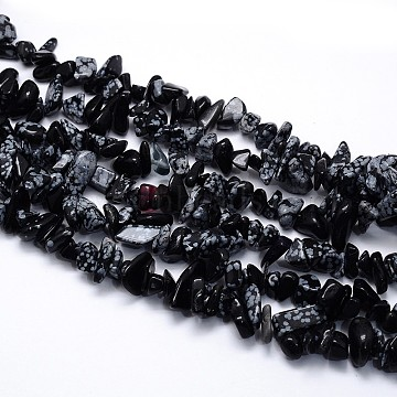 5mm Nuggets Snowflake Obsidian Beads