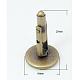 Antique Bronze Brass Cuff Button(X-KK-E063-AB-NF)-1