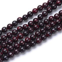 "Brins de perles de pierres naturelles, rond, 8mm, trou: 1mm; environ 50 pcs/chapelet, 15.7""(G-R412-06-8mm)"