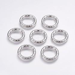 Anneaux de liaison en plastique CCB, anneau, platine, 35x6.5mm, environ 24 mm de diamètre intérieur(CCB-G006-184P)