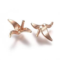 Alloy Beads, Paper Crane, Light Gold, 16x21x8mm, Hole: 1.4mm(X-PALLOY-WH0067-64LG)