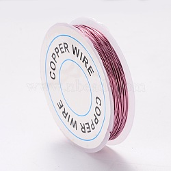 Copper Jewelry Wire, Flamingo, 24 Gauge, 0.5mm; 9m/roll(X-CWIR-CW0.5mm-19)