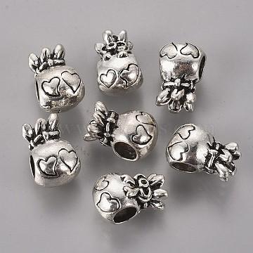 Antique Silver Bag Alloy European Beads