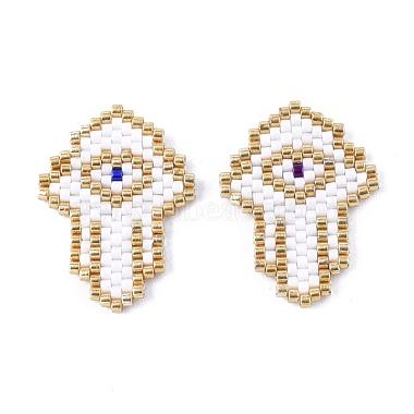 Handmade Seed Beads Pendants(SEED-I012-13A)-1