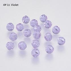 Perles d'imitation cristal autrichien, grade AAA, facette, rond, Mediumpurple, 6mm, Trou: 0.7~0.9mm(SWAR-F021-6mm-212)