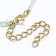 Natural Prehnite Tassels Pendant Necklaces(NJEW-K106-01I)-4
