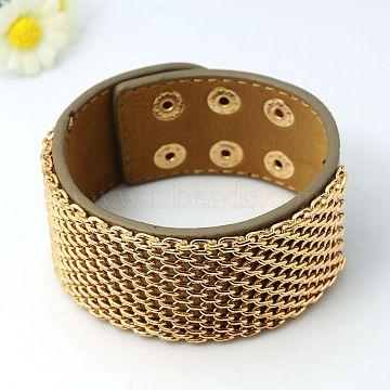 Camel Imitation Leather+Iron Bracelets
