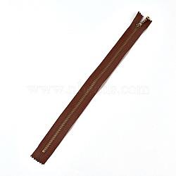 аксессуары для одежды, нейлоновая застежка-молния, с металлическим съемником молнии, застежка-молния, античная бронза, coconutbrown, 33.7x2.8~2.9x0.2 mm(FIND-WH0028-03-C04)