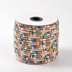 Веревка ткань этнических шнуры, цвет пшеницы, 6 мм; около 50 ярдов / рулон(OCOR-F003-6mm-03)