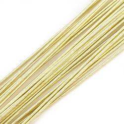 железная проволока, lightkhaki, 0.6 мм; 60 см / нитка; о 50 пряди / мешок(X-MW-S002-02E-0.6mm)