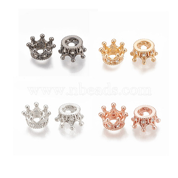 12mm Crown Alloy+Rhinestone Beads