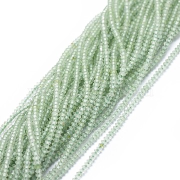 2mm Rondelle Prehnite Beads
