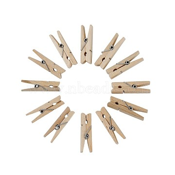 DIY Jewelry, Wooden Craft Pegs Clips and Hemp Cords, 2-Ply, For Jewelry Making, Wheat, 35x7x10mm(DIY-TA0001-31)