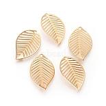 Real Gold Plated Leaf Brass Pendants(X-KK-S348-389)
