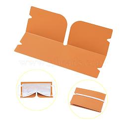 Organisateur de clip de rangement en plastique pliable portable, pour couvre-bouche jetable, orange, 190x120x0.3mm(AJEW-E034-71B)