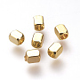 Real Gold Plated Cuboid Brass Spacer Beads(X-KK-T016-14G)