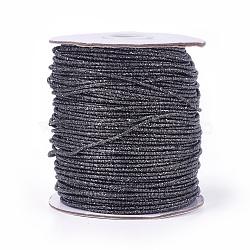 Cordon de polyester, darkgray, 2 mm; 100 yards / rouleau (300 pieds / rouleau)(OCOR-E017-01A-15)