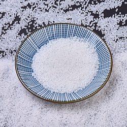Miyuki® délicat perles, Perles de rocaille japonais, 11/0, (db0220) opale blanche, 1x1.5~1.8mm, trou: 0.8 mm; sur 2000 pcs / bouteille, 10 g / bouteille(SEED-JP0008-DB0220)