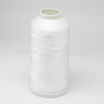 Nylon Thread, For Tassel Making, White, 0.3mm, about 1093.61 yards(1000m)/roll(NWIR-D047-58)