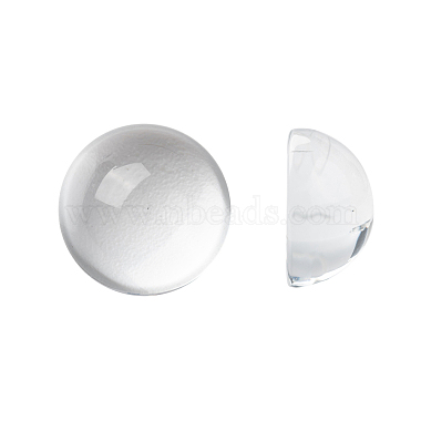 18mm Clear Half Round Glass Cabochons