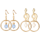 SUNNYCLUE&reg Alloy Stud Earrings and Dangle Earrings(EJEW-SC0001-07MG)-1