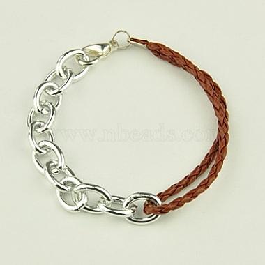 SaddleBrown Imitation Leather Bracelets