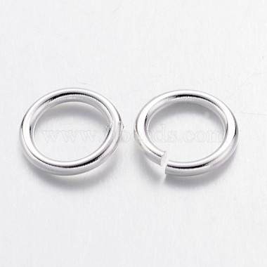 Silver Color Plated Brass Round Jump Ring Jewelry Findings Accessories(X-JRC7MM-S)-2