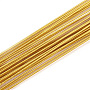 Iron Wire,Floral Wire,for Florist Flower Arrangement,Bouquet Stem Warpping and DIY Craft,Goldenrod,18 Gauge,1mm,about 1-5/8 inches(40cm)/strand, about 100strand/bag