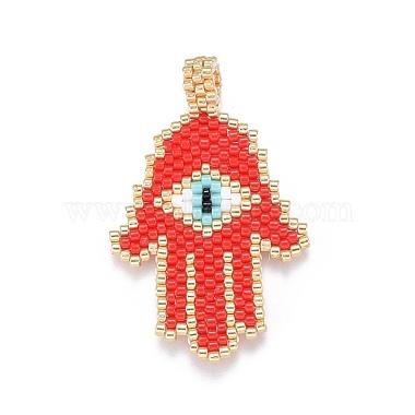 MIYUKI & TOHO Handmade Japanese Seed Beads Pendants(SEED-A029-HG09)-2