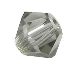 Perles de verre tchèques, facette, Toupie, diamant noir, 8 mm de diamètre, trou: 1 mm; 144 PCs / sac(302-8mm215)