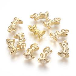 Пластмассовые подвески ccb, золотые, 17x10x6 мм, отверстие : 1.5 мм(X-CCB-S616-11)