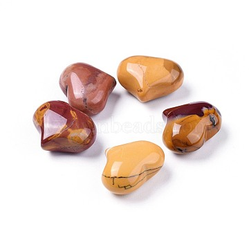 Natural Mookaite Beads, No Hole/Undrilled, Heart, 20x25x11~13mm(X-G-F659-A04)