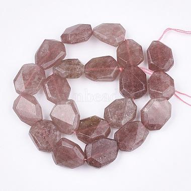Natural Strawberry Quartz Beads Strands(G-T117-05B)-2