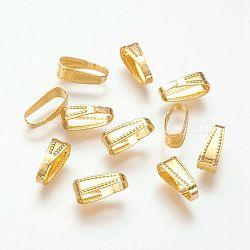 Boutons-pression en laiton, sans plomb, or, 11x4mm(X-KK-H338-G-LF)
