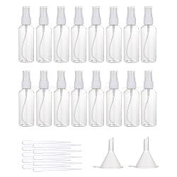 bouchon en plastique transparent bouteille d'épaule ronde en plastique, avec compte-gouttes et trémie, effacer, 128.5x36.5 mm; capacité: 80 ml, 32 PCs / ensemble(MRMJ-BC0001-57)