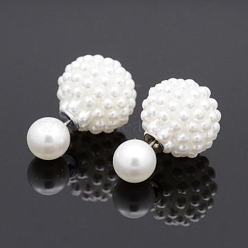 White Acrylic Stud Earrings