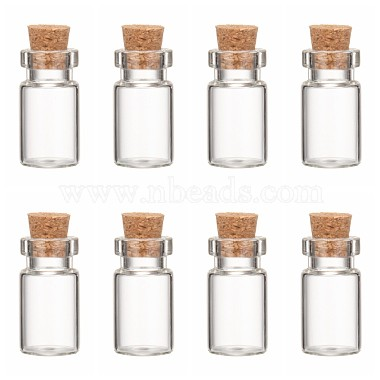 Clear Bottle Glass Beads Containers