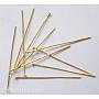 железные штыри с плоской головкой, никель свободный, золотой, размер: около 0.7 mm, 5.0 cm, Руководитель: 2 mm; о 250 шт / 50 г