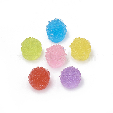 Resin Cabochons, Pudding, Imitation Food, Mixed Color, 14x13x12.5mm(X-CRES-N007-31)