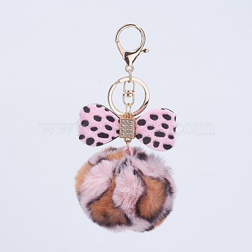 Pink Bowknot Mixed Material Key Chain