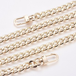 Bag Strap Chains, Wallet Chains, Iron Curb Link Chains, with Swivel Clasps, Golden, 100cm(X-IFIN-WH0049-03B-G)
