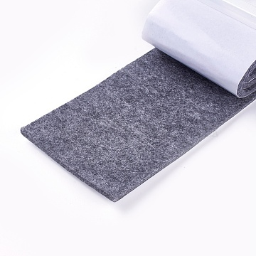 Cuttable Felt Mat, with Adhesive Tape, For Furniture Mat, Gray, 10x0.4cm, about 1m/roll(DIY-WH0134-E01)
