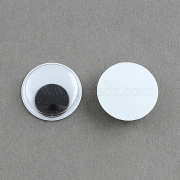 Black & White Wiggle Googly Eyes Cabochons DIY Scrapbooking Crafts Toy Accessories, Black, 13x3mm(KY-S002-13mm)