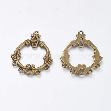 Tibetan Style Ring Alloy Chandelier Component Links(PALLOY-J659-68AB-NF)-2