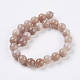 Natural Sunstone Beads Strands(G-G099-8mm-14)-2