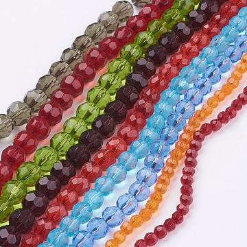 6mm Mixed Color Round Glass Beads