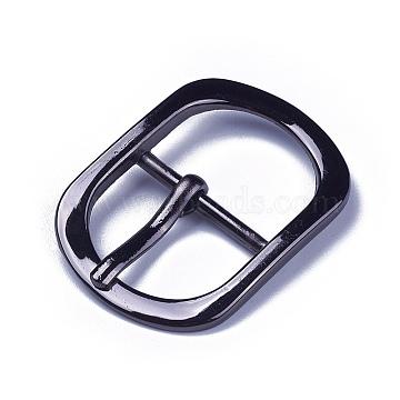 Alloy Buckles, Rectangle, Gunmetal, 45~45.5x32.5x6mm, Hole: 17x24.5mm(X-PALLOY-WH0064-01B)