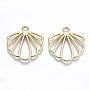 Light Gold Shell Alloy Pendants(PALLOY-S132-204-RS)