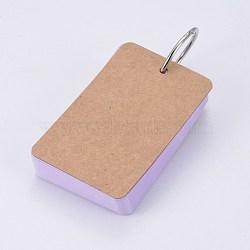 крафт-бумага для заметок, скоросшиватели легкие флип-карты изучают блокноты, сирень, 88x54x19 мм; о 50 лист / шт(BT-TAC0004-A04)