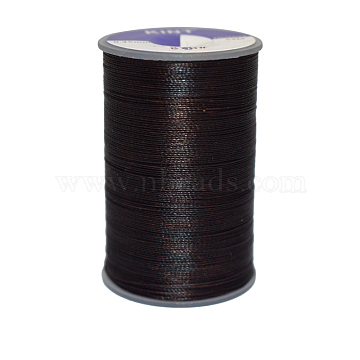 Waxed Polyester Cord, Black, 0.45mm, about 59.05 yards(54m)/roll(YC-E006-0.45mm-A10)